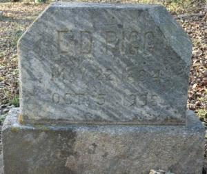 Doak Pigg gravestone