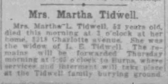 Martha Lena Tidwell