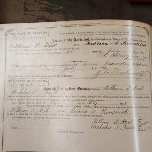 ORIGINAL Marriage Record- William Dial