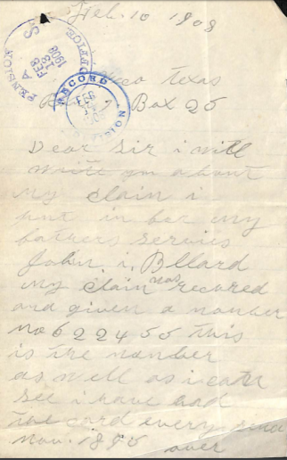 Nancy Only Child Letter 1908 - Edited