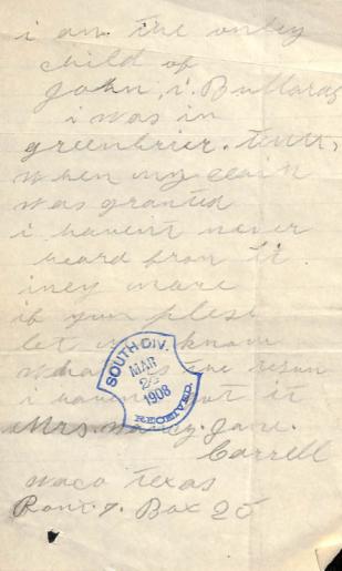 Nancy Only Child Letter 1908 Part 2 - Edited
