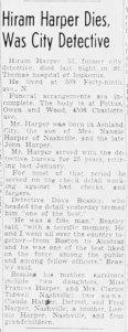 Hiram Harper Dies