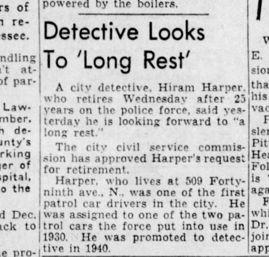 Hiram Harper Long Rest