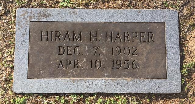 Hiram Harper tombstone