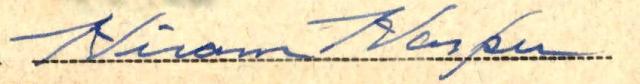 Hiram Signature