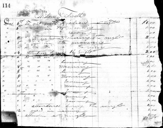 widow tidwell - margaret doctor receipt